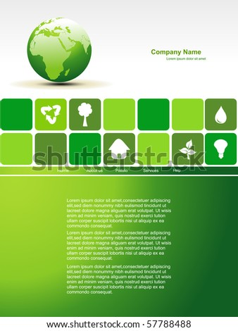 vector editable earth website - stock vector
