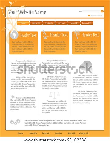 Vector editable full web template.
