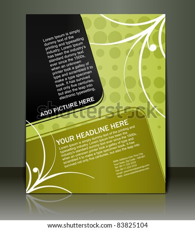 Vector editable Presentation of Flyer/Poster design content background. - stock vector