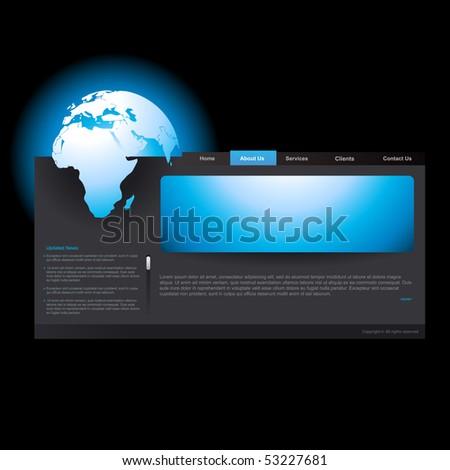 vector editable website template business theme - stock vector