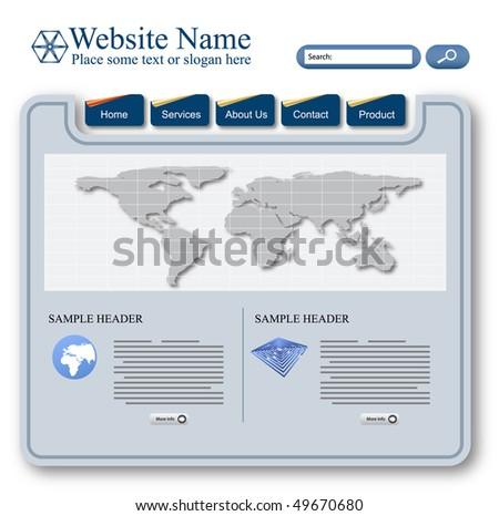 vector editable website template design - stock vector