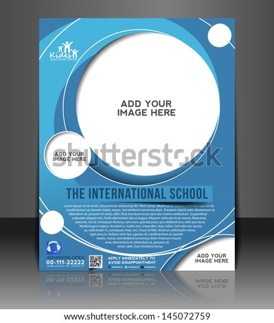 Vector Education Ceneter brochure, flyer, magazine cover & poster template. - stock vector