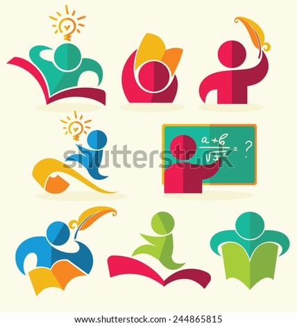 vector education collection - stock vector