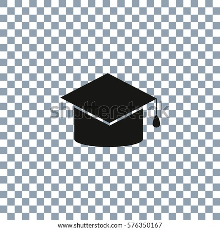 vector education icon on transparent background stock vector