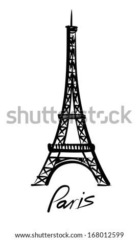 vector Eiffel tower - stock vector