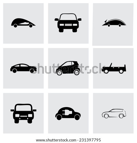 Vector electric icons set on grey background - stock vector