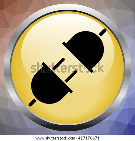 Vector electric plug and socket illustration - stock vector