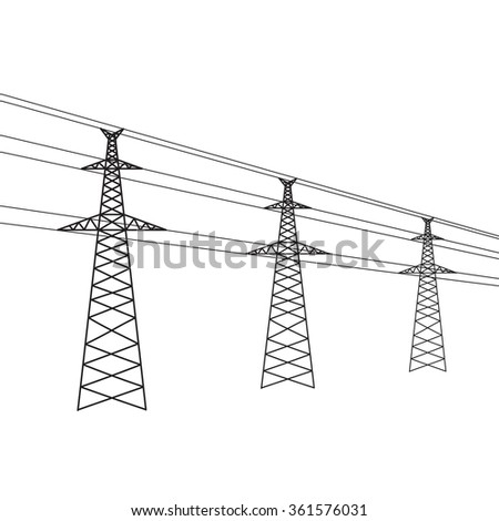 Vector electric power concept symbol. Creative line energy background - stock vector