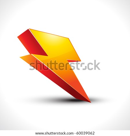 vector electricity 3d icon on white - stock vector