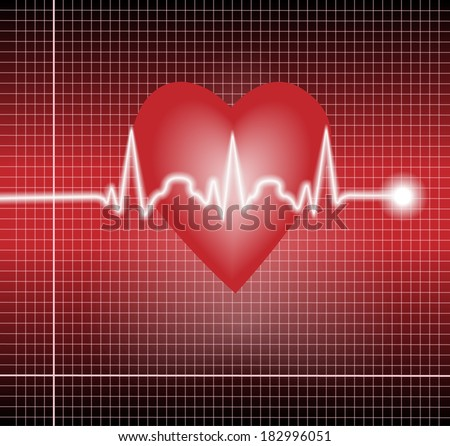 VEctor electrocardiogram  pulse tracing vector - stock vector