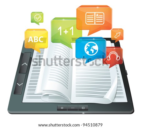 vector electronic book concept