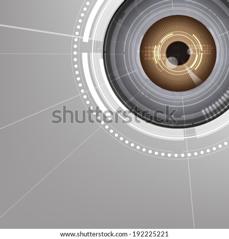 vector electronic eyeball technology, security concept - stock vector