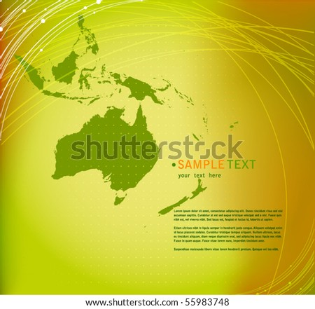 vector elegant abstract background with Australia map silhouette - stock vector
