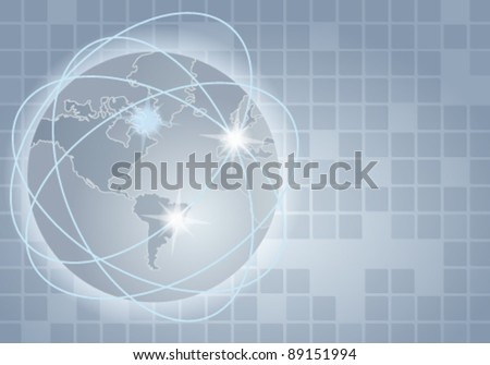Vector elegant abstract business background - global communication concept