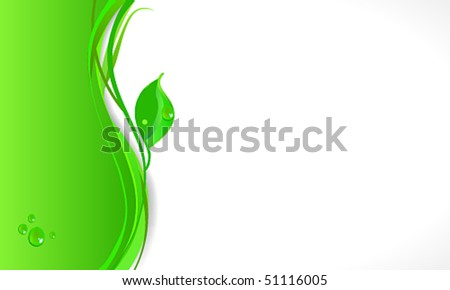 Vector elegant abstract eco business background