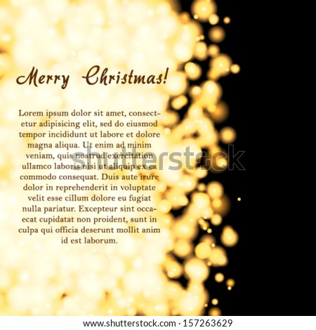 Vector elegant Christmas invitation card. - stock vector