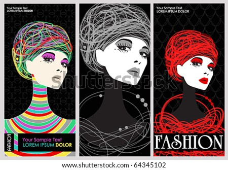 Vector elegant fashion banners - stock vector