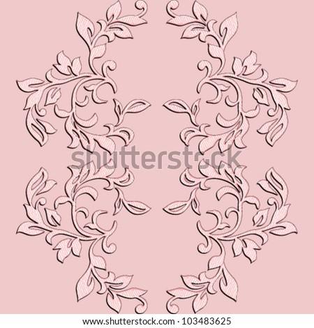 Vector elegant floral design element - stock vector