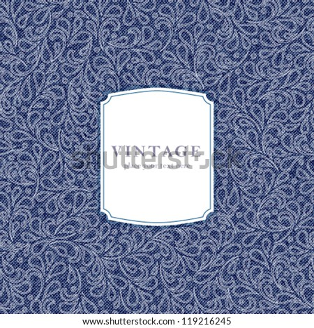 Vector elegant vintage card template. Perfect as invitation or announcement. - stock vector