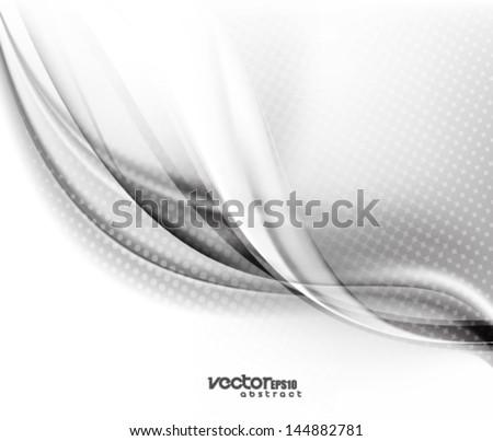 Vector Elegant Wave Background - stock vector