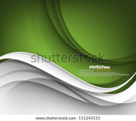 Vector Elegant Wave Concept Design - stock vector