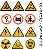 Vector element - a group of warning  sign,isolated on white background - stock vector
