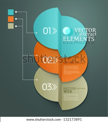 vector element for business and web design - stock vector