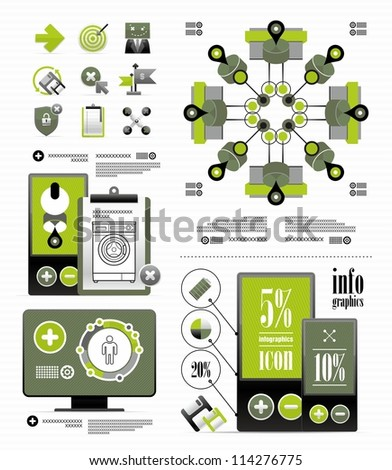 vector elements for a business infographic - stock vector