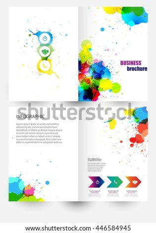 Vector elements for infographic.Flyer poster.Front page. Modern Brochure for business. Headline. Modern template for your work, presentation.Concept with place for your text. EPS10 - stock vector