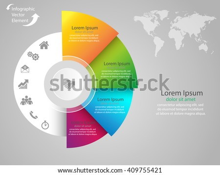 Vector elements for infographic. Modern template for your work with cubes, infograph, presentation or workflow. Concept with business icons and place for your text. EPS10 - stock vector
