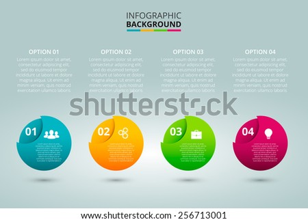 Vector elements for infographic. Template for diagram, graph, presentation and chart. Business concept with 4 options, parts, steps or processes. - stock vector