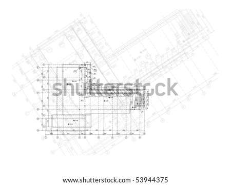 Vector elements for your design. The engineering plan of the house. - stock vector