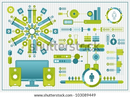 vector elements of infographics - stock vector