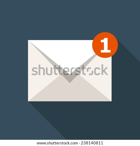 Vector Email Icon - stock vector