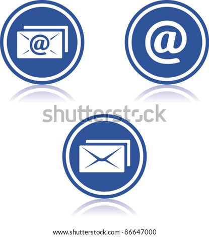 Vector email icons - stock vector