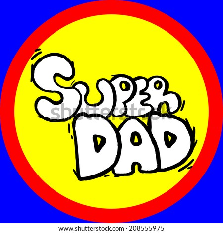 Vector emblem super dad