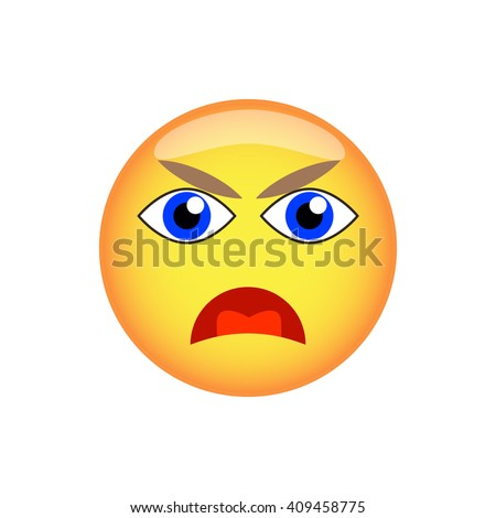 Vector emotional face icons. Smiling Face.  - stock vector