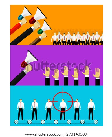 Vector employment infographics elements in flat style - human resources and hiring - stock vector