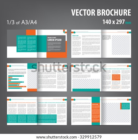 Booklet template stock images royalty free images vectors vector empty bi fold brochure print template design bifold bright orange green booklet pronofoot35fo Choice Image