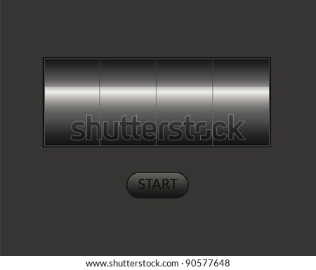 vector empty counter. You can put your own text or digit here. - stock vector