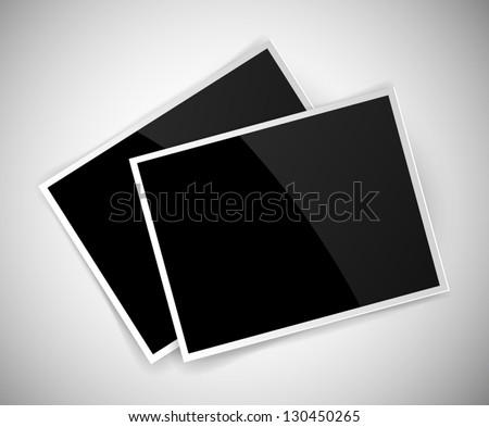 Vector empty glossy photos - stock vector