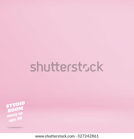Vector : Empty pastel pink studio room background ,Template mock up for display of product,Business backdrop - stock vector