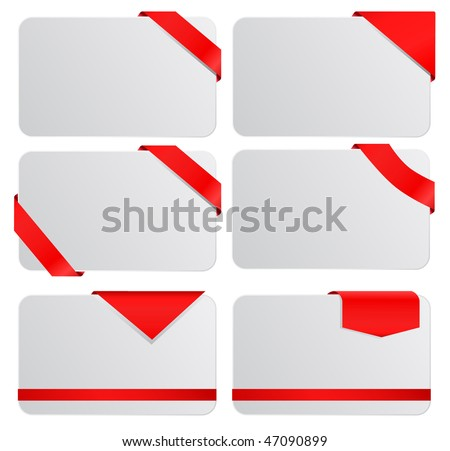 vector empty tags set