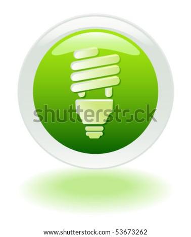 VECTOR Energy Savings web button/icon - stock vector
