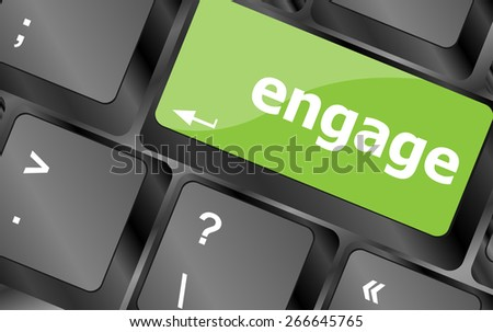 vector engage button on computer pc keyboard key - stock vector