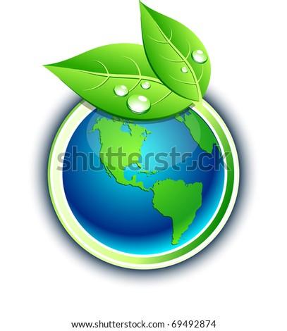 Vector Environment symbol. - stock vector