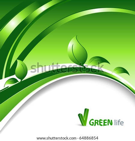 vector environmental background with copy space - stock vector