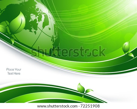 vector environmental background with globe and copy space. Eps10