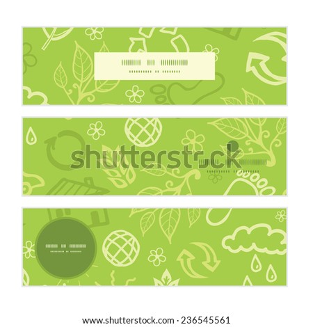 Vector environmental horizontal banners set pattern background - stock vector