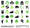 Vector environmental icons and design elements - stock vector
